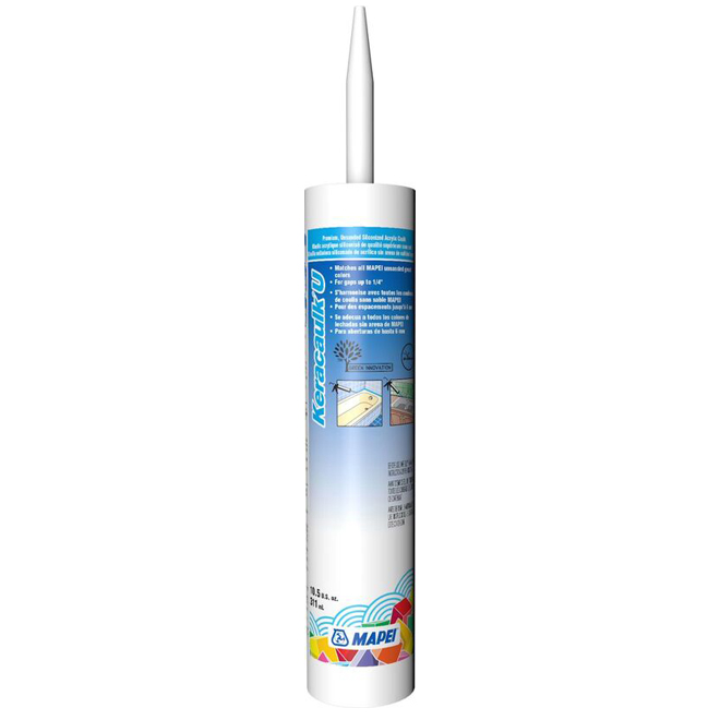 """Keracaulk U"" Unsanded Acrylic Caulk 311ml - White"