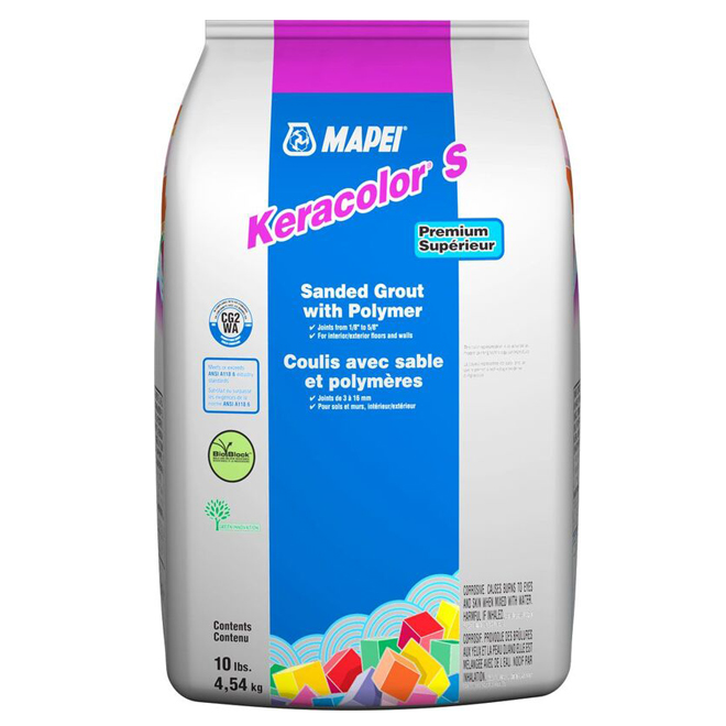 """""""Keracolor S"""" Wall and Floor Sanded Grout 4,54kg - Avalanche"""
