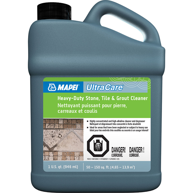 Heavy-Duty Cleaner for Stone - Tile and Grout - 1 Quart