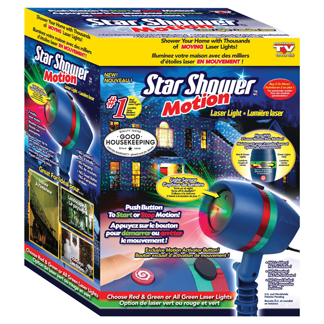 Laser Star Projector - Green/Red