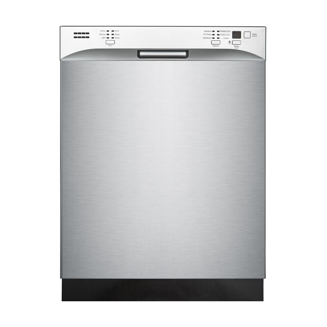 "Midea Built-In Dishwasher - 52 dB - 24"" - Stainless Steel"