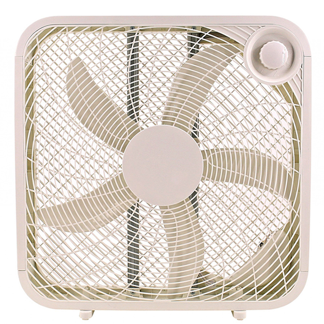 Utilitech Pelonis Box Fan - 20-in 3 Speeds - White