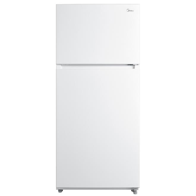 Midea 18 cu ft White Upper-Freezer Refrigerator