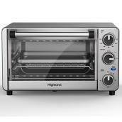 Highland 4-Slice Stainless Steel Toaster Oven with Air Fry