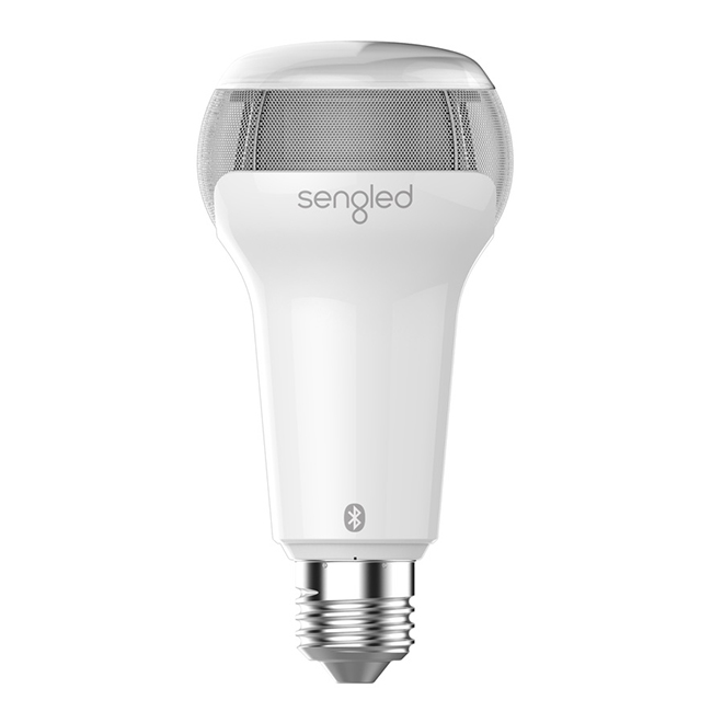 Solo - LED Bulb with Bluetooth Speaker - White