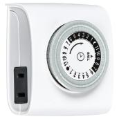 Indoor Mechanical Timer - 24 Hours - White