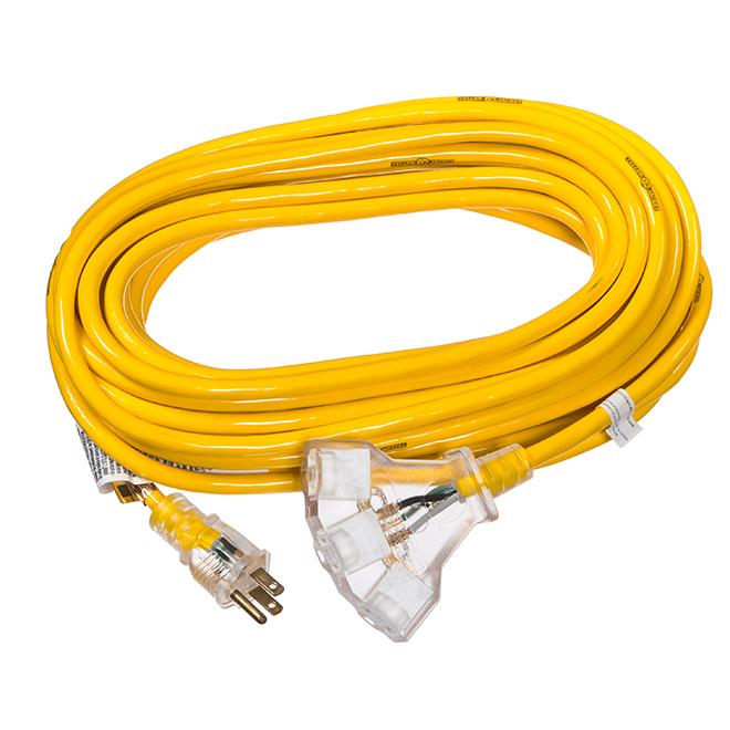 Rallonge électrique d'extérieur, 50 pi, jaune