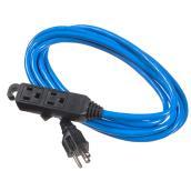 "Frost-Resistant Extension Cord - 16-gauge PVC - 120 V - 9' 10"""