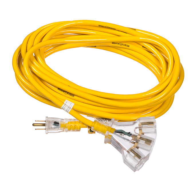 Exterior Exterior Cord - Triple Grounded Outlet - 25'