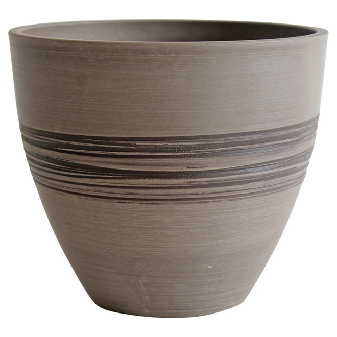 "Flower Pot - 9.8"" x 8.26"" - Taupe"