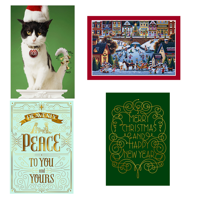 Assorted Christmas Cards - French - 16 Pack