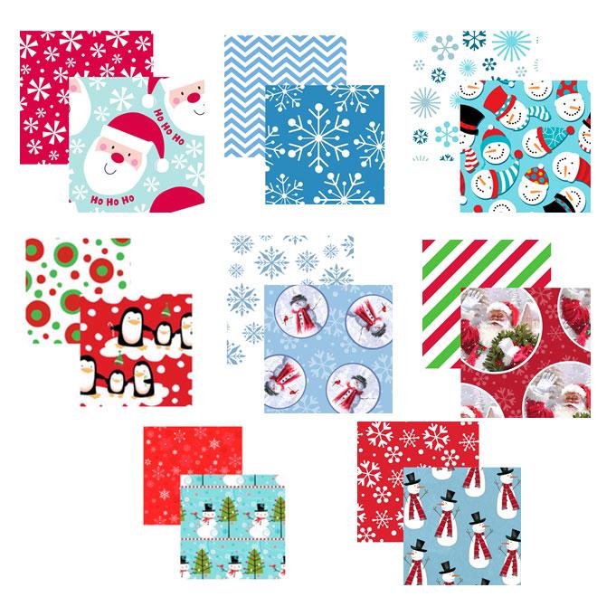 """Papier cadeau, 12 motifs,  40"""" x 15', assorti"""