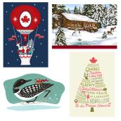 Christmas Cards - French - Paper - 16/Pk