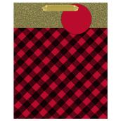 Hallmark Buffalo Gift Bag - Medium Size - Red/Gold
