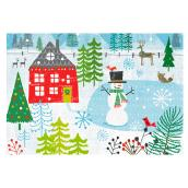 Hallmark Christmas Greeting Card - Snowman - 16-Pack
