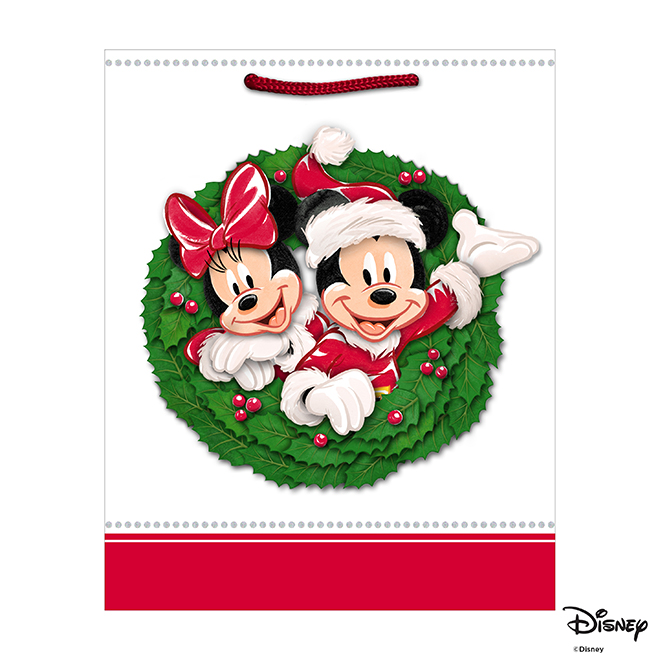 Hallmark Christmas Gift Bag - Mickey and Minnie Mouse - 9.6""