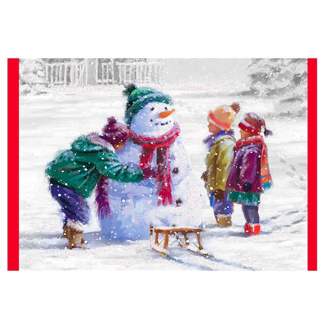 Hallmark Greeting Card - Children/Snowman - 16-Pack