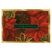 Hallmark Christmas Greeting Card - Poinsettias - 16-Pack