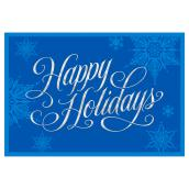 Hallmark Greeting Card - Happy Holidays - Blue - 16-Pack
