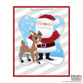 Hallmark Gift Bag - Santa Claus and Rudolph - Large