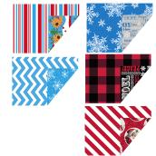 Assorted Reversible Gift Wrap - 40'' Wide - 5 Motifs