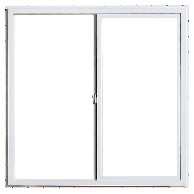 "Horizontal Sliding Window - PVC - 29.5"" x 29.5"" - White"