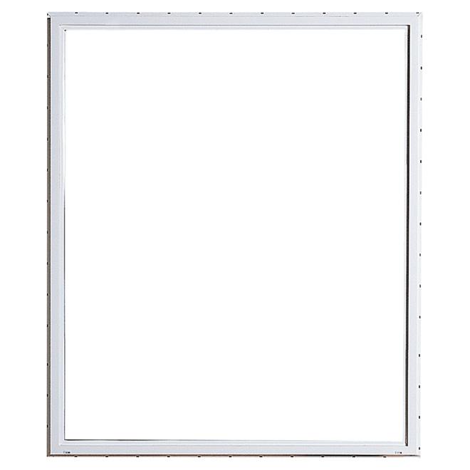 """Fenêtre coulissante horizontale, PVC, 35,37"""" x 35,37"""", blanc"""