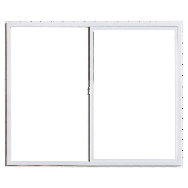 """Fenêtre coulissante horizontale, PVC, 47,25"""" x 35,37"""", blanc"""