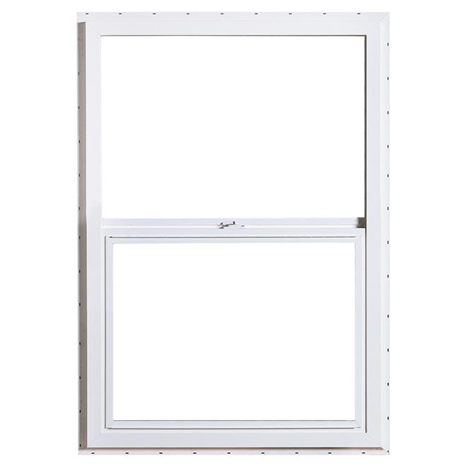 "Vertical Sliding Window - PVC - 23.62"" x 35.37"" - White"