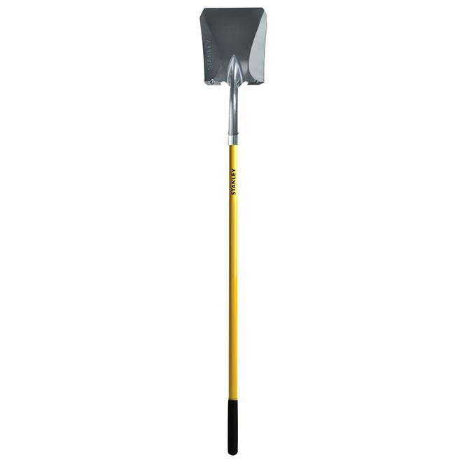Shovel - Square Head - Steel - Fiberglass Handle