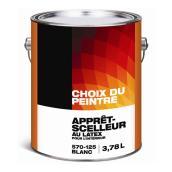 Apprêt-scellant intérieur Choix du Peintre, 3,78 l, blanc mat