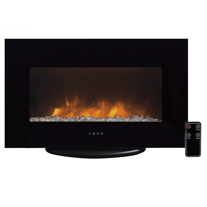 Electric Fireplace - 750W/1500W - Concrete Look