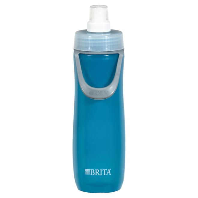 Bouteille d'eau de sport avec filtre, 590 ml, bleu