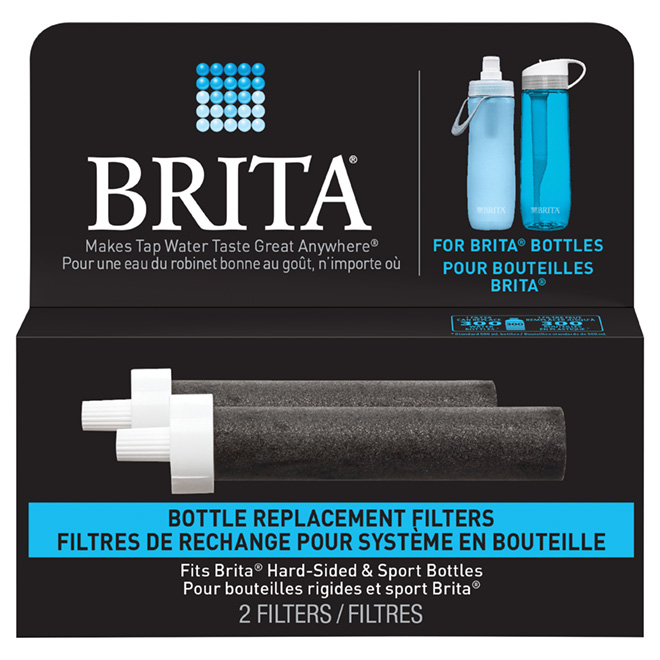 Pack of 2 Water Filters for Hard-Sided Brita® Bottle