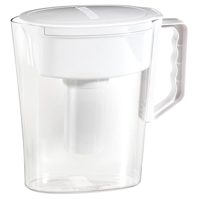 Pichet d'eau avec filtre 5 tasses, blanc/clair