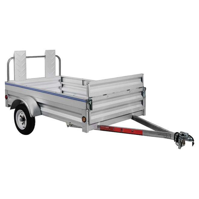Galvanized Steel Expandable Trailer - 4-ft x 8-ft