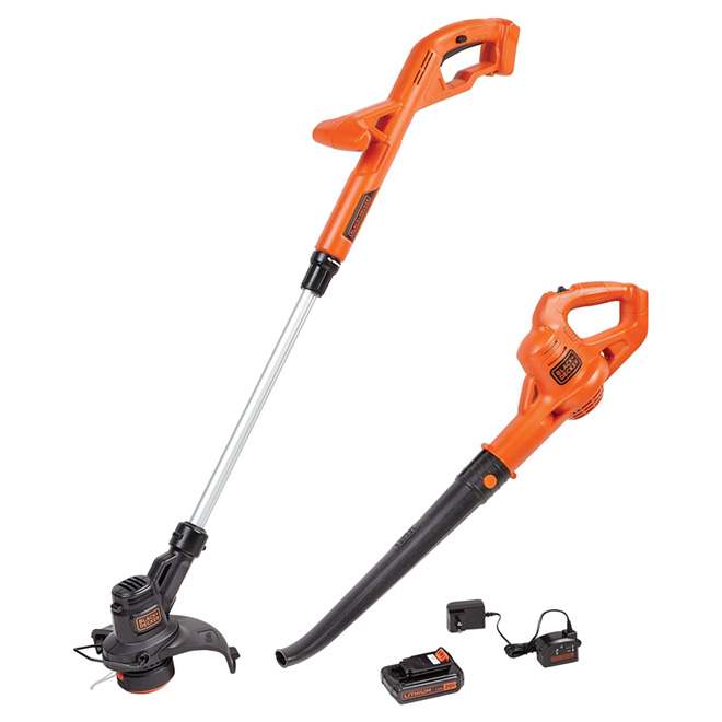 Black & Decker - Cordless String Trimmer and Blower - 20 V