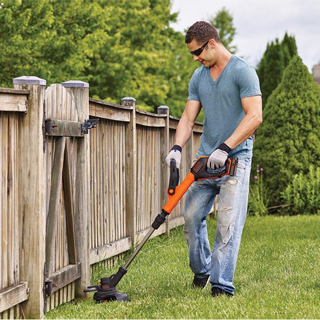 Coupe-herbe/coupe-bordure sans fil Black & Decker, hauteur réglable, dévidoir automatique, 20 volts