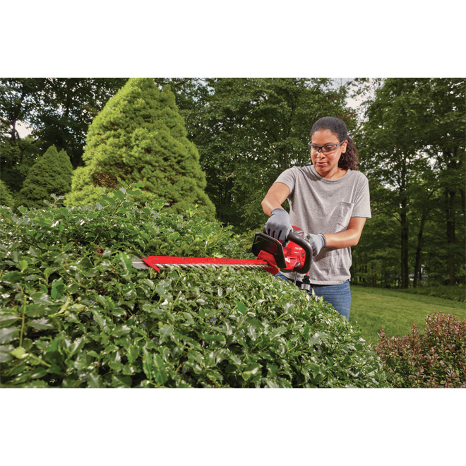 Craftsman(MD) - Electric Hedge-Trimmer - 24'' - 4 Ah - Red