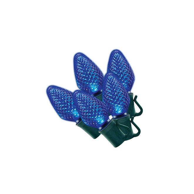 Set of 70 Lights - Interior/Exterior - LED C7 - Blue