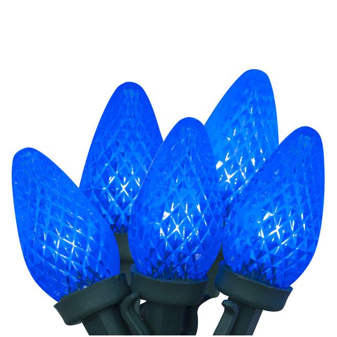 Jeu de 150  lumières, intérieur/extérieur, DEL C9, bleu