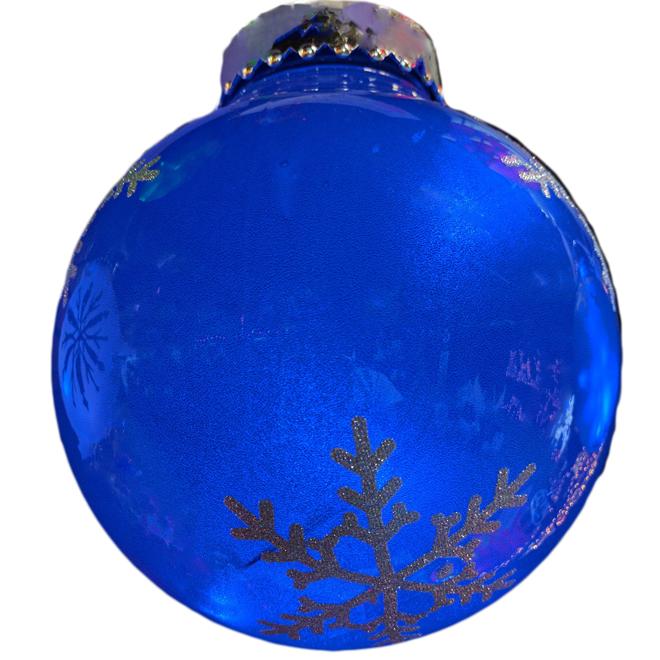 """Boule illuminée pour l'extérieur, 7"""", plastique, bleu"""