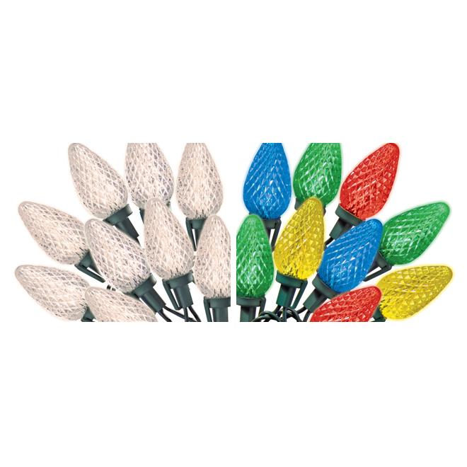 Set of 35LED Lights - 24.67' - Warm White and Multicoloured