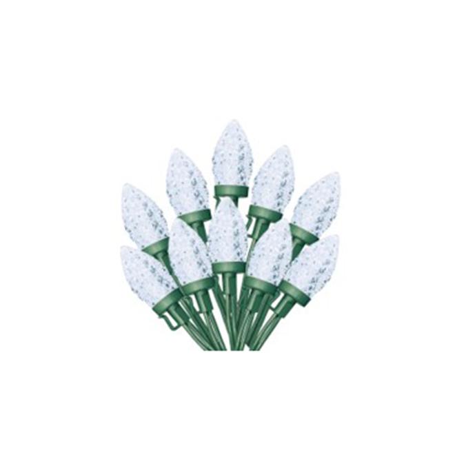 Jeu de lumières Sylvania, 100 lumières C9 DEL, blanc froid