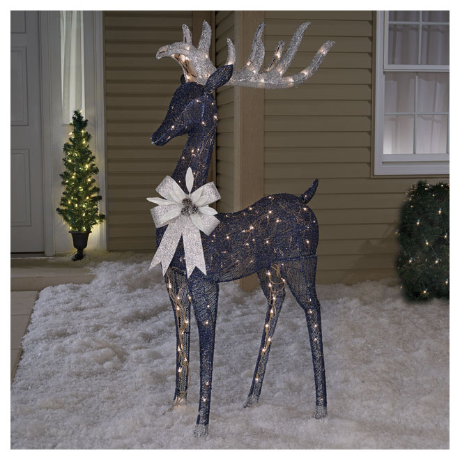 Lighted Reindeer - 150 LED Lights - 60'' - Midnight Blue