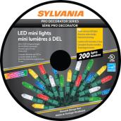 Sylvania Christmas String Lights - 200-Count LED M5 - Indoor Outdoor -  Multicolour