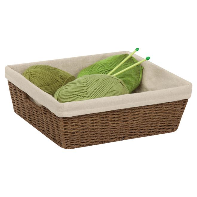 Medium Paper Rope Basket - 16 L - Brown