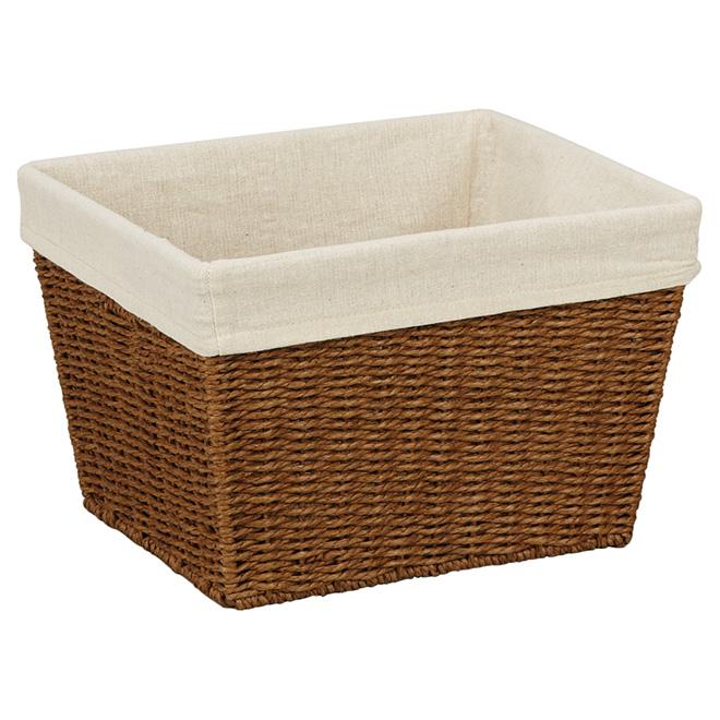 Medium Paper Rope Basket   15.7 L   Brown