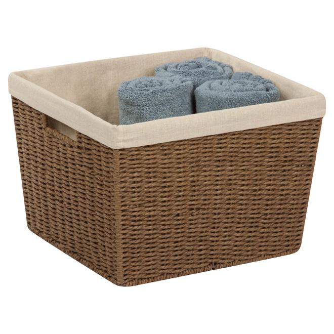 Large Paper Rope Basket - 32 L - Brown