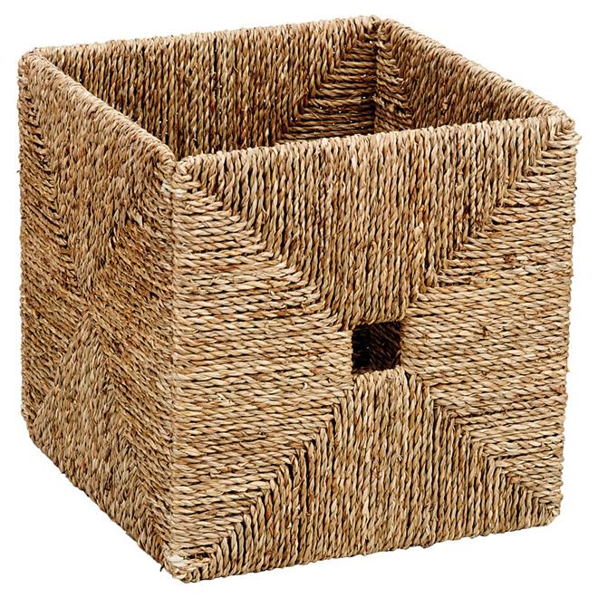 Folding Storage Basket - Seagrass - 21.1 L - Brown